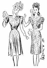 """Modelos publicados na """"Folha da Manhã"""", em 17 de setembro de 1944"""