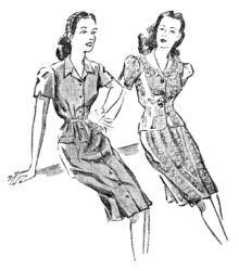 """Modelos publicados na """"Folha da Manhã"""", em 7 de outubro de 1945"""