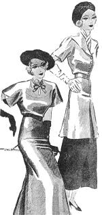 """Modelos publicados na """"Folha da Noite"""", em 11 de janeiro de 1936"""