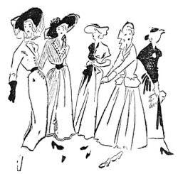 """Modelos publicados na """"Folha da Manhã"""", em 28 de agosto de 1949"""